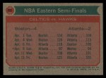 1973 Topps #63   NBA Eastern Semi-Finals Back Thumbnail