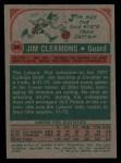 1973 Topps #29  Jim Cleamons  Back Thumbnail