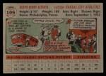 1956 Topps #106 GRY Joe Astroth  Back Thumbnail