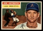 1956 Topps #106 GRY Joe Astroth  Front Thumbnail