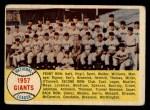 1958 Topps #19   Giants Team Checklist Front Thumbnail