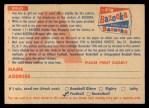 1956 Topps   Contest Card Nov 25 - Bears vs. Giants Back Thumbnail