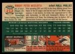 1954 Topps #212  Mickey Micelotta  Back Thumbnail