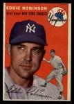 1954 Topps #62  Eddie Robinson  Front Thumbnail