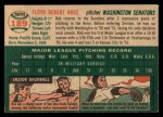 1954 Topps #189 ERR Bob Ross  Back Thumbnail