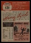 1953 Topps #131  Harry Byrd  Back Thumbnail