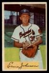 1954 Bowman #144  Ernie Johnson  Front Thumbnail