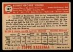 1952 Topps #147 CRM Bob Young  Back Thumbnail