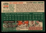 1954 Topps #245  Roy Sievers  Back Thumbnail