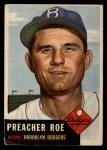 1953 Topps #254  Preacher Roe  Front Thumbnail