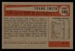 1954 Bowman #188  Frank Smith  Back Thumbnail