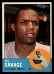 1963 Topps #508  Ted Savage  Front Thumbnail