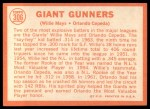 1964 Topps #306   -  Willie Mays / Orlando Cepeda Giants Gunners Back Thumbnail