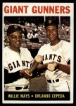 1964 Topps #306   -  Willie Mays / Orlando Cepeda Giants Gunners Front Thumbnail