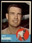 1963 Topps #329  Lindy McDaniel  Front Thumbnail