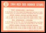 1964 Topps #287   -  Tony Conigliaro / Bill Spanswick Red Sox Rookies Back Thumbnail