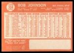1964 Topps #304  Bob Johnson  Back Thumbnail