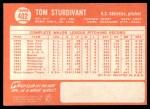 1964 Topps #402  Tom Sturdivant  Back Thumbnail