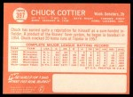 1964 Topps #397  Chuck Cottier  Back Thumbnail