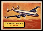 1957 Topps Planes #55 BLU  Lockheed 1049-G Front Thumbnail