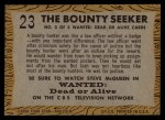 1958 Topps TV Westerns #23   The Bounty Seeker  Back Thumbnail
