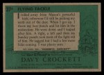 1956 Topps Davy Crockett #37 GRN  Flying Tackle  Back Thumbnail
