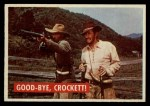 1956 Topps Davy Crockett #38 GRN  Good-Bye Front Thumbnail
