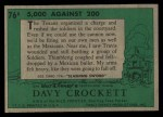 1956 Topps Davy Crockett #76 GRN  5000 Against 200 Back Thumbnail