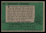 1956 Topps Davy Crockett #72 GRN  Breaking Through  Back Thumbnail