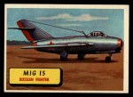 1957 Topps Planes #32 BLU  Mig 15 Front Thumbnail