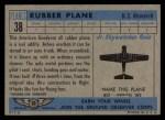 1957 Topps Planes #38 BLU  Rubber Plane Back Thumbnail