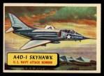 1957 Topps Planes #59 BLU  A4d-1 Skyhawk Front Thumbnail