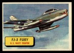 1957 Topps Planes #60 BLU  Fj-3 Fury Front Thumbnail