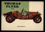 1953 Topps World on Wheels #65   Thomas Flyer Speedster 1910 Front Thumbnail