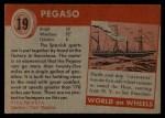 1954 Topps World on Wheels #19   Pegaso Back Thumbnail