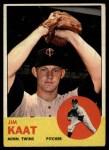 1963 Topps #165  Jim Kaat  Front Thumbnail