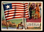 1956 Topps Flags of the World #25   Liberia Front Thumbnail