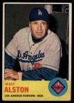 1963 Topps #154  Walter Alston  Front Thumbnail
