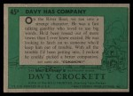 1956 Topps Davy Crockett #45 GRN  Davy Has Company  Back Thumbnail