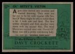 1956 Topps Davy Crockett #57 GRN  Ol' Betsy's Victim  Back Thumbnail