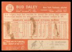 1964 Topps #164  Bud Daley  Back Thumbnail
