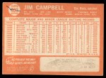 1964 Topps #303  Jim Campbell  Back Thumbnail