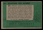 1956 Topps Davy Crockett #54 GRN  Blasting the Alamo  Back Thumbnail