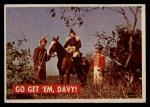 1956 Topps Davy Crockett #12 GRN  Go Get 'Em Davy!  Front Thumbnail