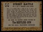 1958 Topps TV Westerns #56   Street Battle  Back Thumbnail