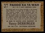 1958 Topps TV Westerns #37   Pahoo Ka Ta Wah  Back Thumbnail