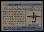 1957 Topps Planes #26 BLU  Britannia Back Thumbnail