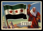 1956 Topps Flags of the World #4   Syria Front Thumbnail