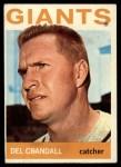 1964 Topps #169  Del Crandall  Front Thumbnail