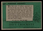 1956 Topps Davy Crockett #60 GRN  Furious Assault  Back Thumbnail